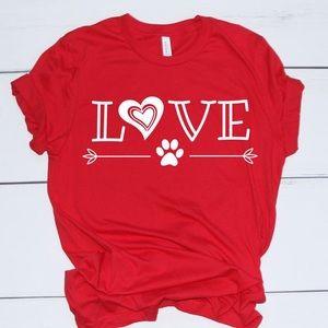 Dog Lovers Valentine TShirt 👚 NEW NWT